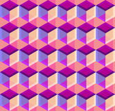Cubic seamless Pattern. Geometric background of hexagons. Grid Pattern. Abstract Background. Isometric background. Three. Vector regular Texture. Cubic seamless Stock Photo