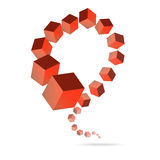 Cubic shape illustration Stock Image
