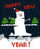 Cubic snowman Stock Images