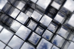 Cubic space. 3D cubic space available for background Royalty Free Stock Image
