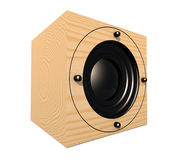 Cubic Speaker 1. 3D rendered Illustration of an cubic Speaker / Subwoofer. Isolated on white Stock Images