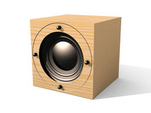 Cubic Speaker 2. 3D rendered Illustration of an cubic Speaker / Subwoofer. Isolated on white Royalty Free Stock Photos