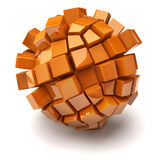Cubic sphere Stock Photo