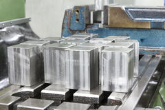 Cubic stainless steel Stock Image