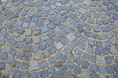 Cubic stone pavement Stock Image