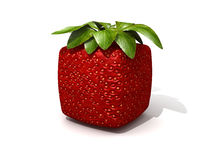 Cubic strawberry Royalty Free Stock Photography
