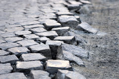 Cubic street stones Stock Photography