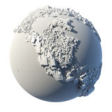 Cubic structure of the planet Earth Royalty Free Stock Image