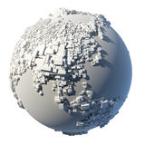 Cubic structure of the planet Earth Royalty Free Stock Photography