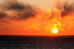 Cubic sunset royalty free stock image