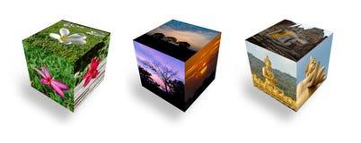 Cubic sunset Royalty Free Stock Photos