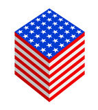 Cubic USA flag fantasy royalty free stock images