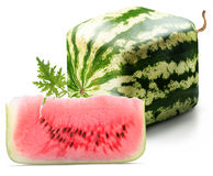 Cubic watermelon with slice Stock Photo