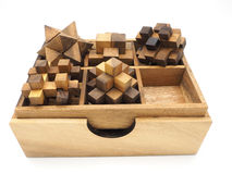 Cubic wood on white background. For background Stock Image