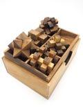 Cubic wood on white background Stock Photo