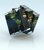 Cubic world Stock Photo