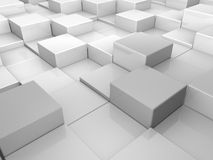 Cubic world. Abstract background with gray cubes set one next to another Royalty Free Stock Photography
