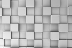 Cubic world. Abstract background with gray cubes set one next to another Stock Photos