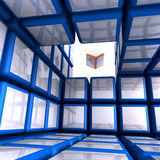 Cubic World Stock Photography