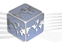 Cubic world map. World map with cube and number Stock Photography