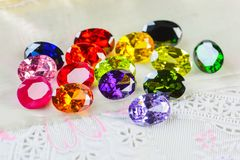 Cubic zirconia gemstones stock image