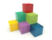 Cubica 3d Foto de archivo