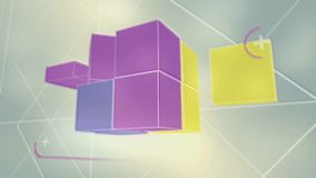 Cubica el movimiento retro del juego 3d stock de ilustración