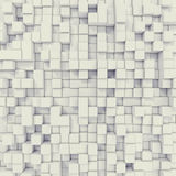 Cubical abstract background. 3d illustration. White cubical abstract background. 3d illustration resolution Royalty Free Stock Photography