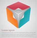 Cubical design element Stock Images