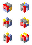 Cubical icons Royalty Free Stock Images