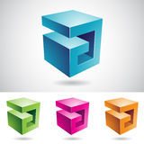 Cubical Shape of Letter A Stock Images