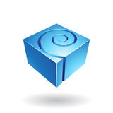 Cubical Spiral Shape Abstract Icon stock illustration