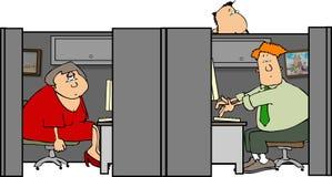 cubicle 2 stock illustrationer