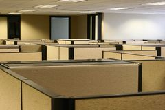 Cubicle Maze. A maze of bland cubicles in an office Royalty Free Stock Image