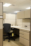 Cubicle in Office Space. Empty office space after workers have left Stock Photography