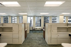 Cubicles in downtown office building Royalty Free Stock Photography