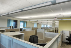 Cubicles in Office Building. HDR image with details Royalty Free Stock Image