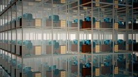 cubicles tömmer kontoret lager videofilmer