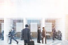 Cubicoli dell'ufficio del diamante con la gente delle immagini tonificata Immagine Stock