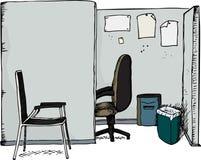 Cubicolo dell'ufficio con le presidenze Fotografie Stock Libere da Diritti