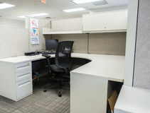 Cubicolo dell'ufficio dopo un licenziamento Fotografia Stock