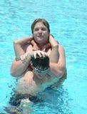 Cubierta áspera en la piscina Fotos de archivo