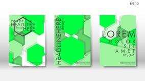 Cubierta abstracta con los elementos del hexágono concepto de diseño del libro Disposición futurista del negocio ilustración del vector