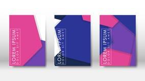 Cubierta abstracta con los elementos del hexágono concepto de diseño del libro Disposición futurista del negocio Plantilla del ca libre illustration