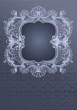 Cubierta adornada de Gray Blue Foto de archivo