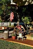 Cubierta adornada en un patio trasero Fotografía de archivo