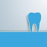 Cubierta azul del diente Fotografía de archivo libre de regalías
