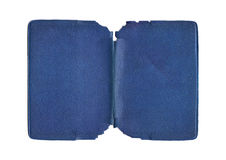 Cubierta azul rasgada vintage Foto de archivo
