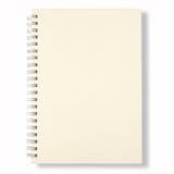 Cubierta blanca del cuaderno Fotos de archivo