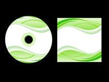 Cubierta cd verde abstracta Foto de archivo libre de regalías